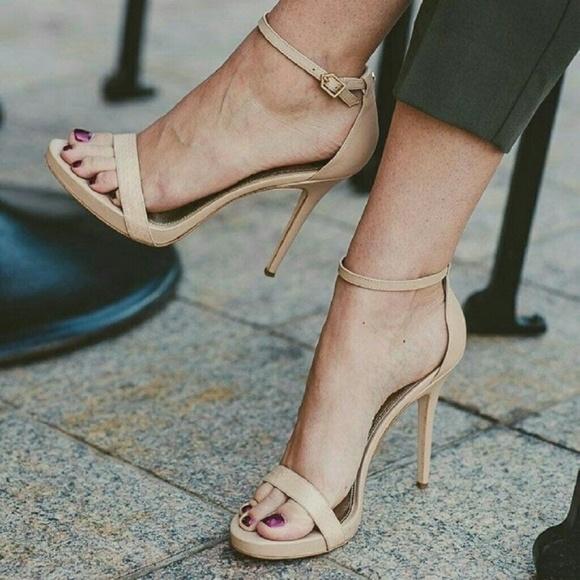 e92d18e2d67e Sam Edelman Eleanor Ankle Strap Nude Sandals Heels.  M 5c784d36aa571910b1850151